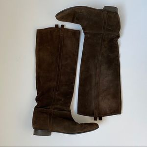 Madewell Chocolate Suede Boots
